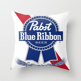 Pabst Blue Ribbon Throw Pillow