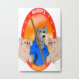 Muddy's Nemesis Portrait Metal Print