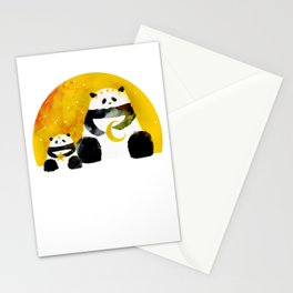 Panda Moon Bears Stationery Cards