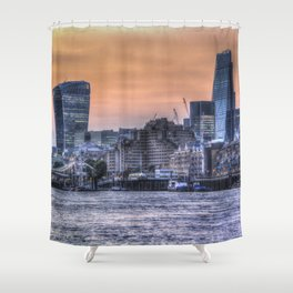 The Three Buildings London Shower Curtain