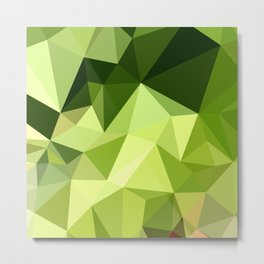 Electric Lime Green Abstract Low Polygon Background Metal Print