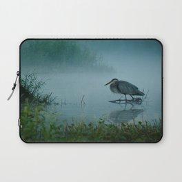 Blue Heron Misty Morning Laptop Sleeve