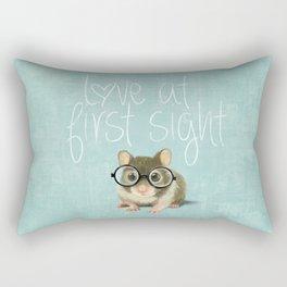 Little mouse in love Rectangular Pillow