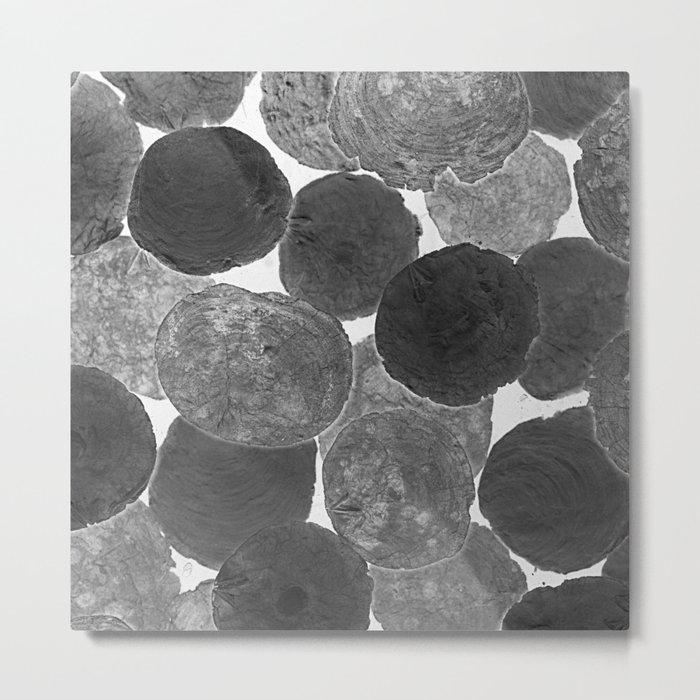 Abstract Gray Metal Print
