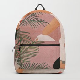 Woman with Oranges Backpack