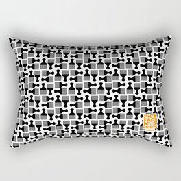 Pick Fros Not Fights™ / Frolab Signature Afro Pick Pattern Rectangular Pillow