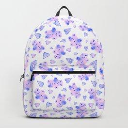 Watercolor Gingerbread Cookies in Pink + Blue Pastel Backpack