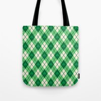 irish Tote Bags featuring Irish Argyle by Fimbis