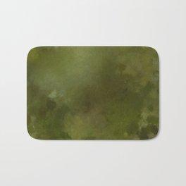 Green brown batic look Bath Mat