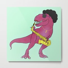 She-Rex Sax Metal Print