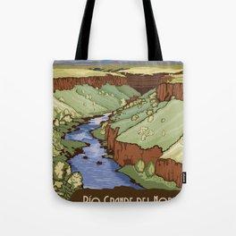 Vintage Poster - Rio Grande del Norte National Monument, New Mexico (2015) Tote Bag