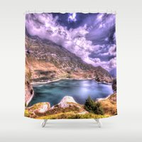 lake Shower Curtains featuring Lake by Danto