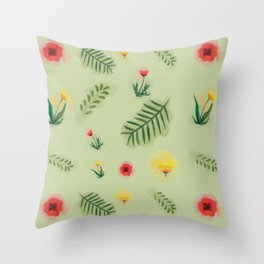 Countryside ferns Throw Pillow