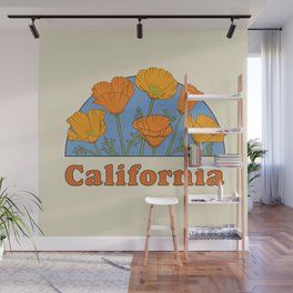 California Poppies Wall Mural