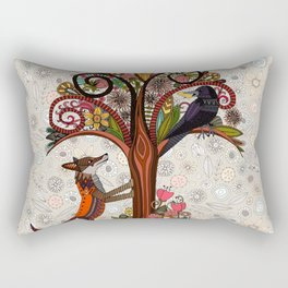 fox and crow Rectangular Pillow