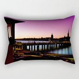 Sunset over Stockholm - Landscape Photography Rectangular Pillow
