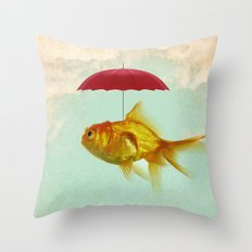 under cover goldfish 02 Throw Pillow