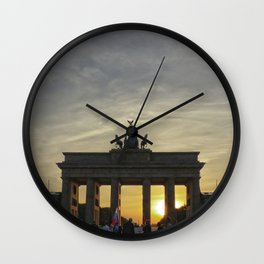 Sunset at the Brandenburg Gate, Berlin Wall Clock