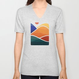 Meditative Mountains Unisex V-Neck