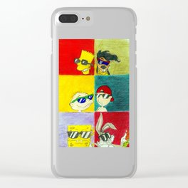 90s Cool Kids Clear iPhone Case