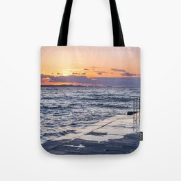 Sunset and Zadar -perfect connection. Tote Bag
