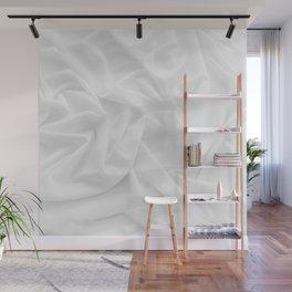 MINIMAL WHITE DRAPED TEXTILE Wall Mural