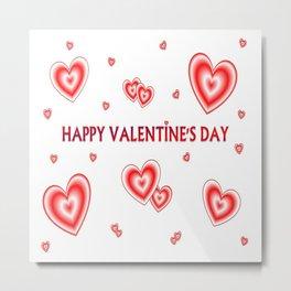 happy valentin's day Metal Print