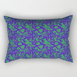 Green Snake Pattern Rectangular Pillow
