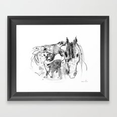 Horses (Socializing) Framed Art Print