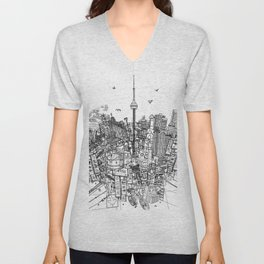 Toronto! (version #2) Unisex V-Neck