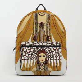 "Art Deco Oriental Design ""Café Foujita"" Backpack"