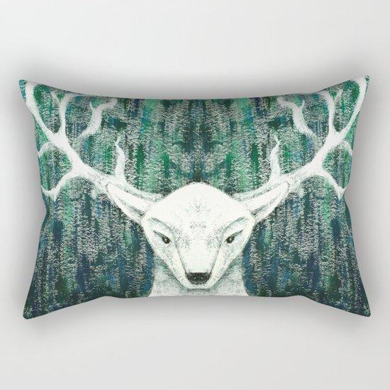 Christmas Stag handpainted Rectangular Pillow