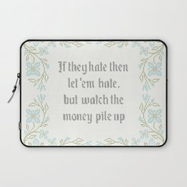 Vintage Inspired Throw Pillow with Rap Lyrics by 50 Cent Laptop Sleeve