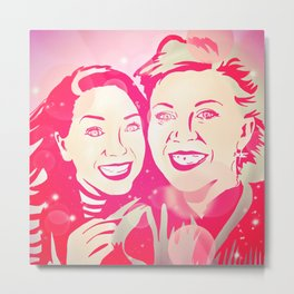 Louise and Zoe Metal Print