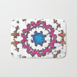 Alien Artefact Mandala Pattern Bath Mat