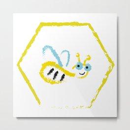 Busy bee Metal Print
