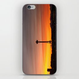 Space needle Sunset iPhone Skin