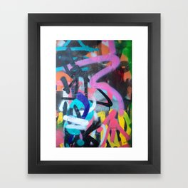 Street Art Graffiti Photography by Dominic Joyce Framed Art Print