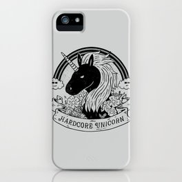 Hardcore Unicorn iPhone Case