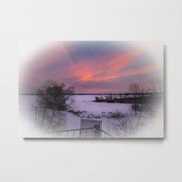 Cold Morning Sky Metal Print