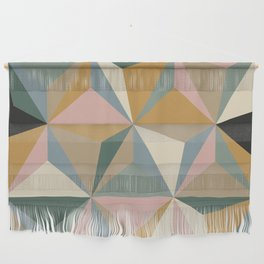 Pastel Triangles Wall Hanging