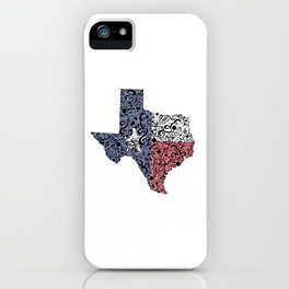 Texas - Hand Sketched Doodle Art iPhone Case