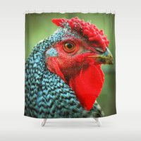 rooster Shower Curtains featuring Rooster by Nichole B.