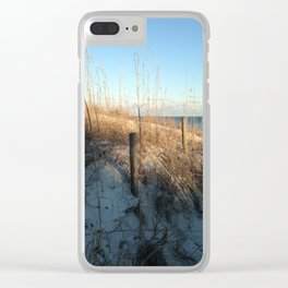 Shady dunes Clear iPhone Case