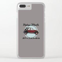 Vintage Wheels - 2CV Charleston Clear iPhone Case
