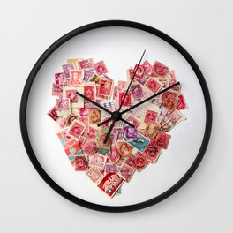 Sending Out A Love Letter - Stamps Wall Clock