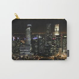 city at night lights skyline Carry-All Pouch