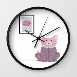 Pig in a Onesie Wall Clock