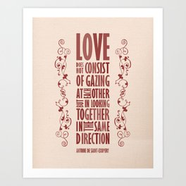 Love Direction Art Print