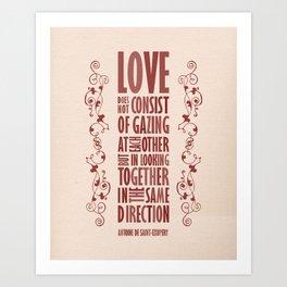 Love Direction Art Print